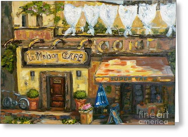 Provence Village Greeting Cards - High Time in Lourmarin Greeting Card by Patsy Walton