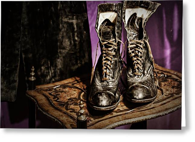 High Top Shoes Greeting Card by Nikolyn McDonald