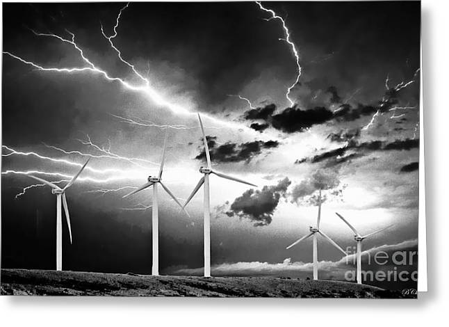 Generators Greeting Cards - High Voltage Greeting Card by Barbara Chichester