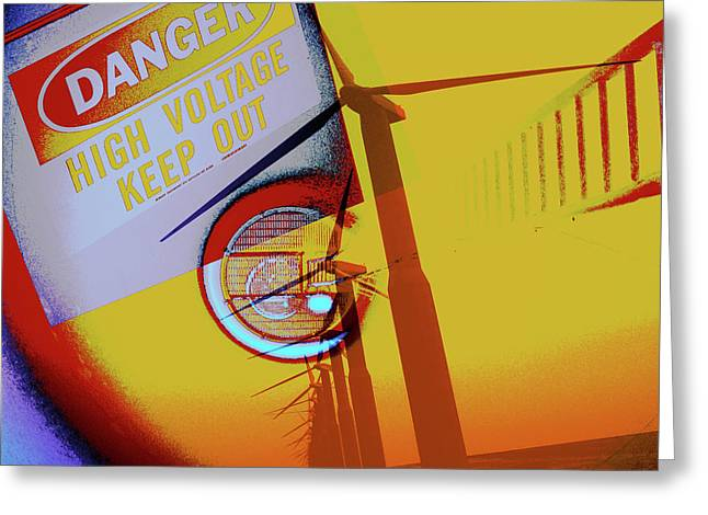 High Voltage Greeting Cards - High Voltage Greeting Card by Molly McPherson