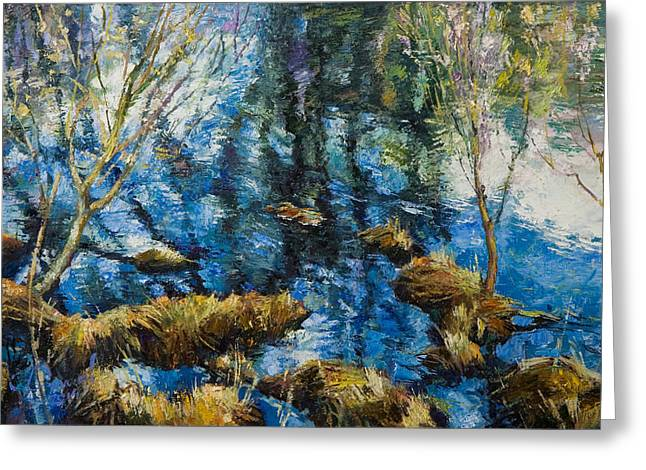 Spring Floods Paintings Greeting Cards - High water Greeting Card by George Demchev