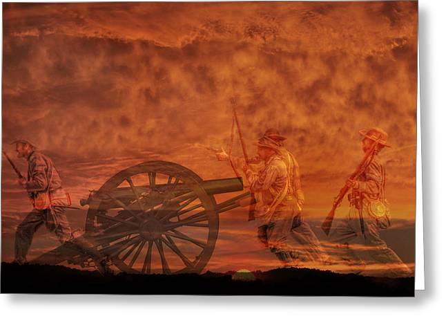 Army Of Northern Virgina Greeting Cards - High Water Mark Sunset Greeting Card by Randy Steele