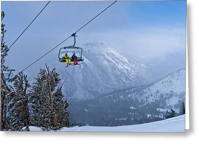 Mount Rose Ski Resort Greeting Cards - High Way to Heaven Greeting Card by Maria Coulson