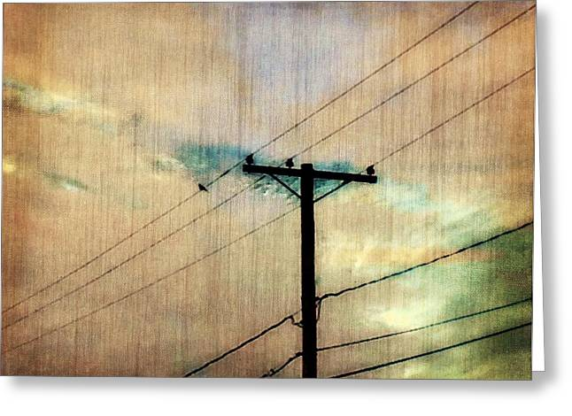 High Wire Greeting Card by Lori Bourgault