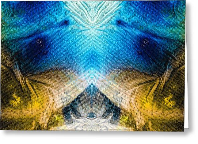 Yoga Images Greeting Cards - Higher Love Art by Sharon Cummings Greeting Card by Sharon Cummings