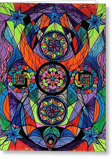Frequency Prints Greeting Cards - Higher Purpose Greeting Card by Teal Eye  Print Store