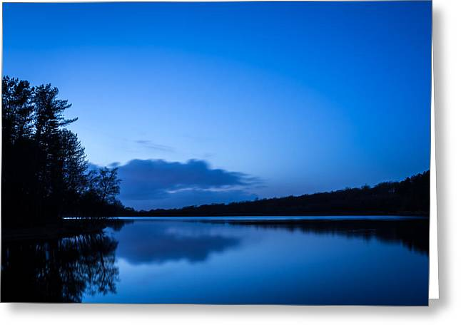 Blur Greeting Cards - Higher Roddlesworth Reservoir. Greeting Card by Daniel Kay