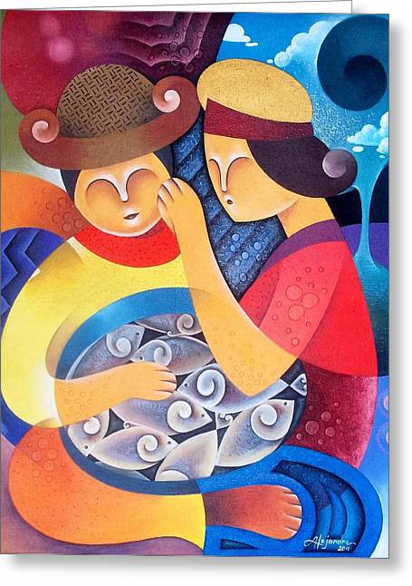 Filipino Arts Greeting Cards - Highest bidder Greeting Card by Hermel Alejandre