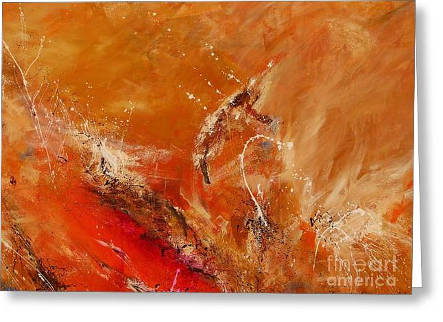 Ismeta Greeting Cards - Highest Time 2 - Abstract Art Greeting Card by Ismeta Gruenwald