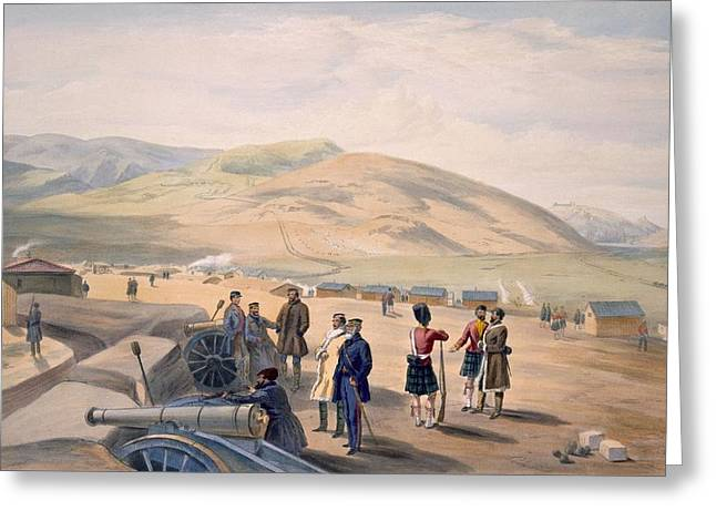 Highlander Greeting Cards - Highland Brigade Camp, Plate From The Greeting Card by William