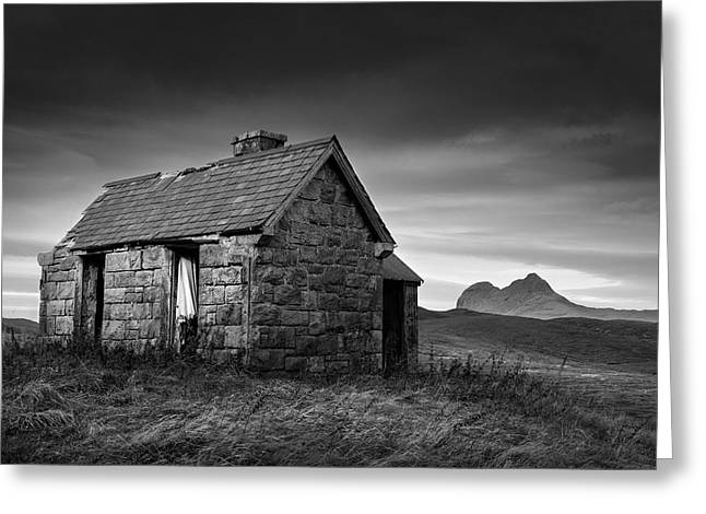 Old House Photographs Greeting Cards - Highland Cottage 1 Greeting Card by Dave Bowman