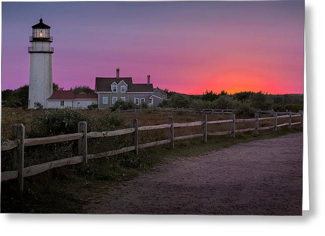 Cape Cod National Seashore Greeting Cards - Highland Light Greeting Card by Bill  Wakeley