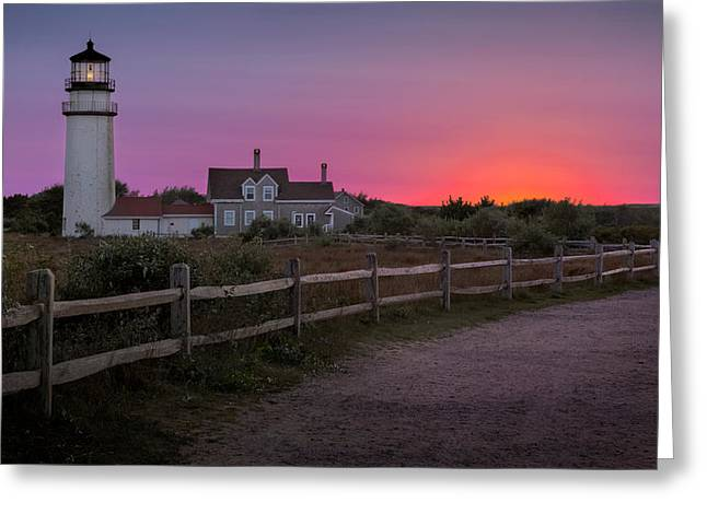 Historic Lighthouses Greeting Cards - Highland Light Greeting Card by Bill  Wakeley