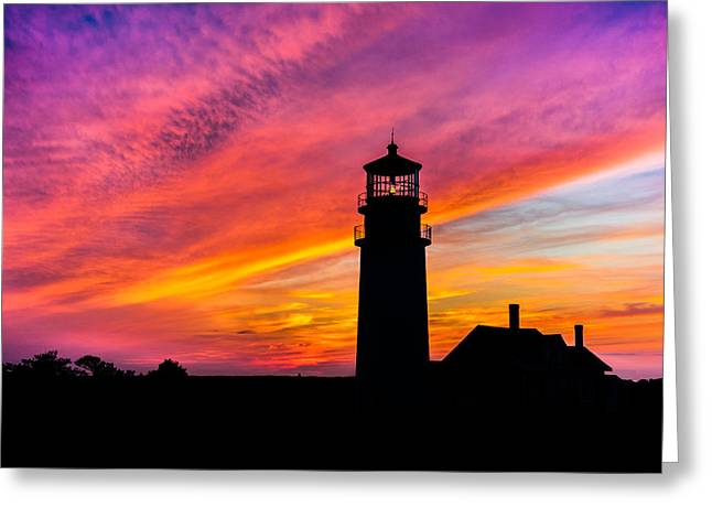 Highland Light Silhouette  Greeting Card by Dean Martin