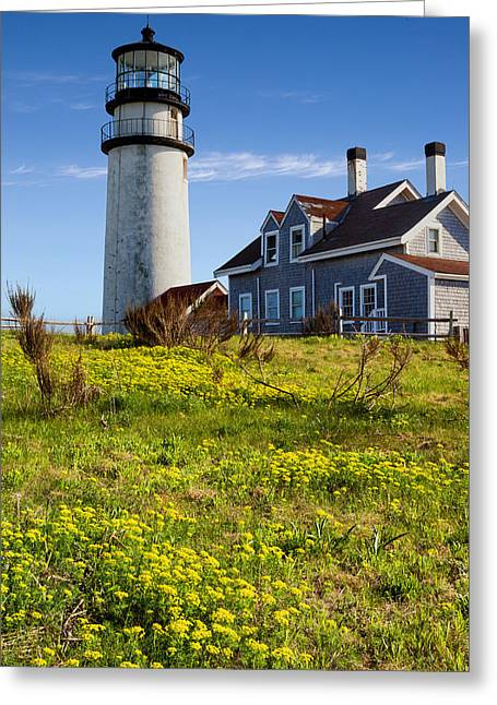 New England Lighthouse Greeting Cards - Highland Light Spring Greeting Card by Bill  Wakeley