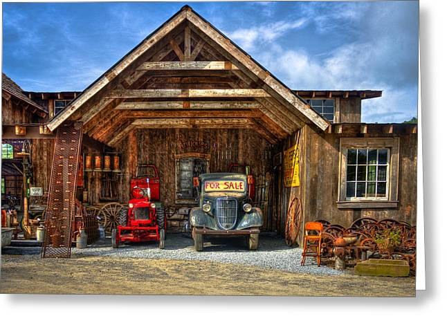 Jackson County Greeting Cards - Highland NC Antique Store in the Great Smokey Mountains Greeting Card by Reid Callaway