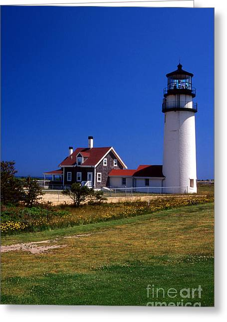 Highland Or Cape Cod Lighthouse Greeting Card by Skip Willits