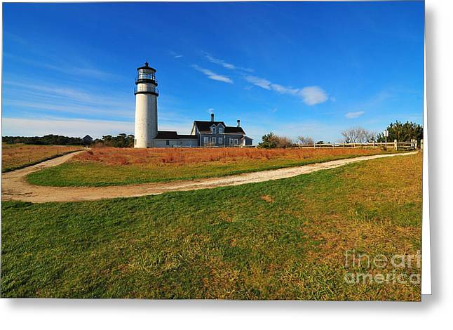 Highland Point Light Greeting Card by Catherine Reusch  Daley