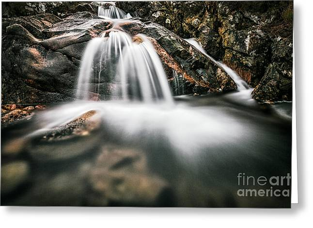 Buachaille Etive Mor Greeting Cards - Highland Waterfall Greeting Card by John Farnan