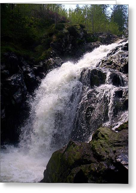 R. Mclellan Photography Greeting Cards - Highland Waterfall Greeting Card by R McLellan