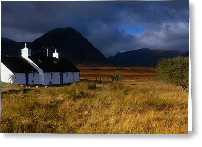 Thunderstorm Greeting Cards - Highlands Cottage, Glencoe, Scotland Greeting Card by Panoramic Images