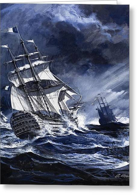 Sailing Ship Greeting Cards - Highlights From History Irelands Great Greeting Card by Andrew Howat