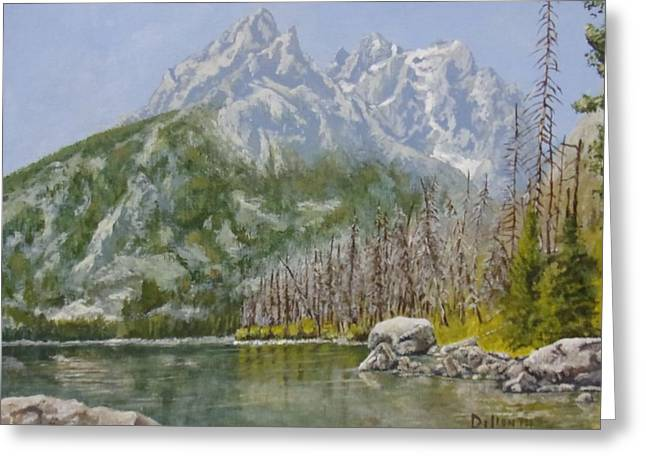 Featured Art Greeting Cards - Highwater Pines Greeting Card by Michael Dillon