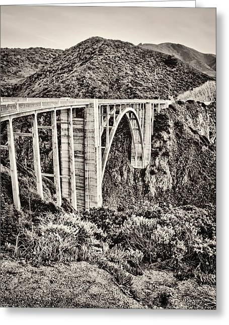 Recently Sold -  - Big Sur Ca Greeting Cards - Highway 1 Greeting Card by Heather Applegate