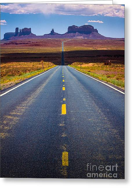 Native Architecture Greeting Cards - Highway 163 Greeting Card by Inge Johnsson