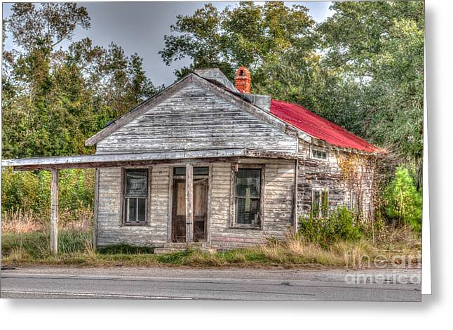Tin Roof Greeting Cards - Highway 17 Shack Greeting Card by Dale Powell