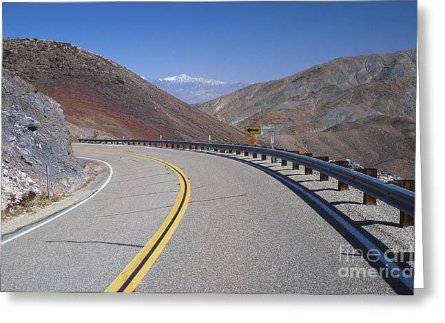 Uncrowded Greeting Cards - Highway 190 Greeting Card by Chris Selby