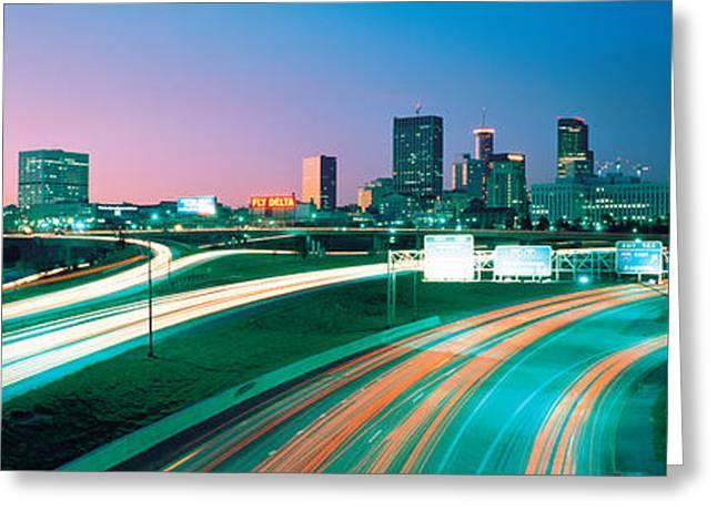 Ga Greeting Cards - Highway Atlanta Ga Usa Greeting Card by Panoramic Images