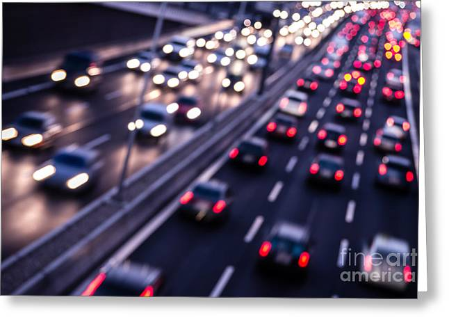 Closing Time Greeting Cards - Highway Greeting Card by Steven Pepp