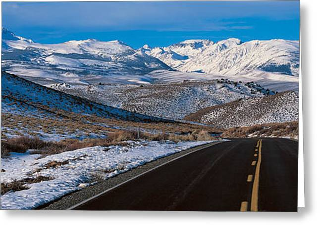 Yellow Line Greeting Cards - Highway Ca Usa Greeting Card by Panoramic Images