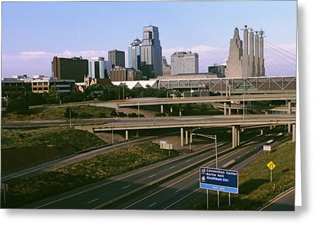 Missouri Photography Greeting Cards - Highway Interchange, Kansas City Greeting Card by Panoramic Images