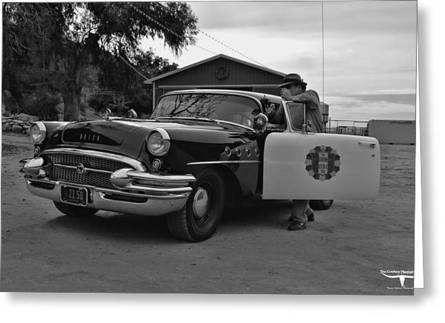 Recently Sold -  - 1955 Movies Greeting Cards - Highway Patrol 4 Greeting Card by Tommy Anderson