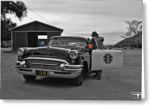 Recently Sold -  - 1955 Movies Greeting Cards - Highway Patrol 5 Greeting Card by Tommy Anderson