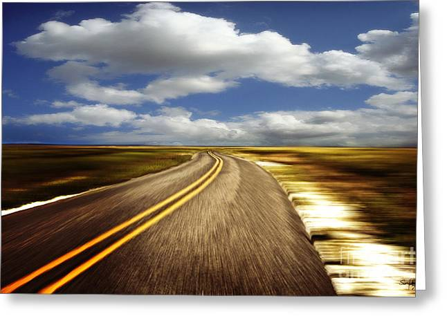 Paradise Road Greeting Cards - Highway Run Greeting Card by Scott Pellegrin