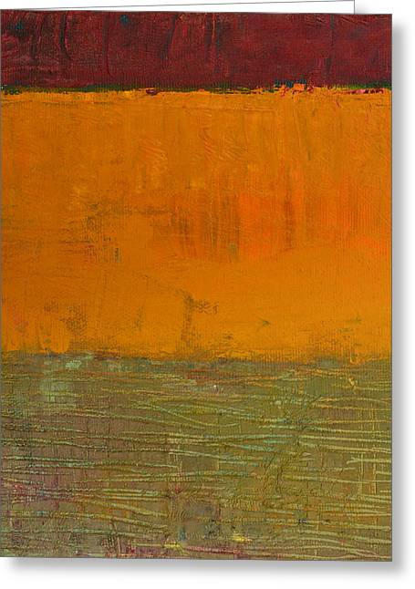 Abstract Movement Greeting Cards - Highway Series - Grasses Greeting Card by Michelle Calkins