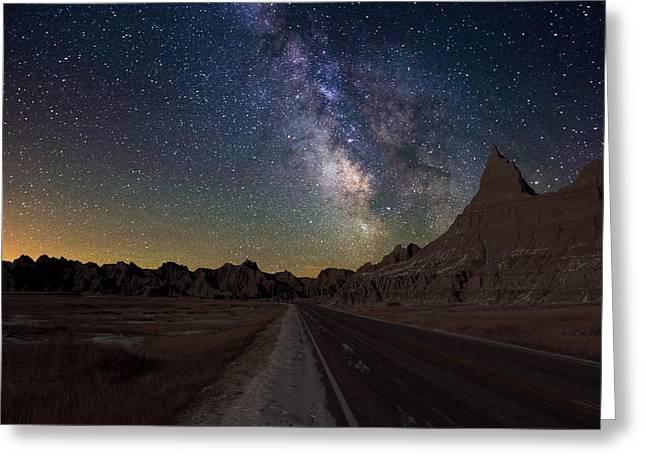 Dark Skies Photographs Greeting Cards - Highway to Greeting Card by Aaron J Groen