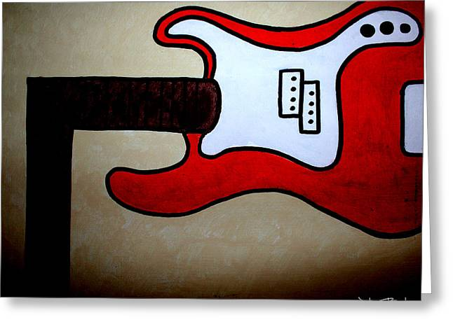 Guitare Greeting Cards - Highway to Hell Greeting Card by Julien Boutin