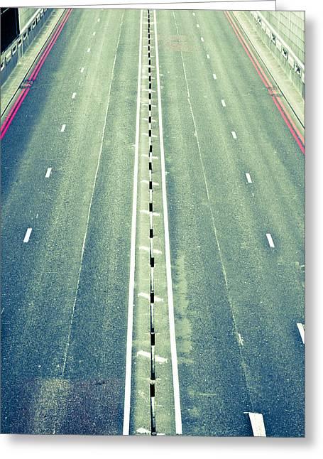 Motorway Greeting Cards - Highway Greeting Card by Tom Gowanlock