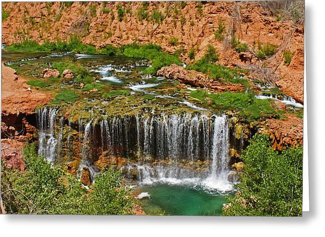 Colorado River Greeting Cards - Hike into Havasupai  Greeting Card by Michael J Bauer