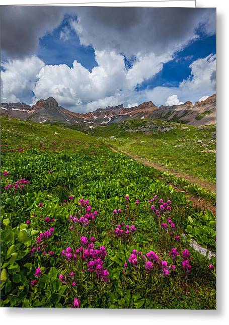 Storm Framed Prints Greeting Cards - Hiking Ice Lake Basin Greeting Card by Darren  White