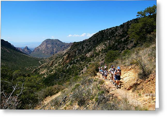 Southern Class Greeting Cards - Hiking In Big Bend, Texas Greeting Card by Gregory G. Dimijian, M.D.