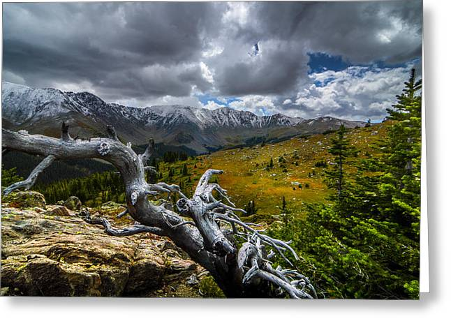Trail Greeting Cards - Hiking Over Loveland Pass Greeting Card by Michael J Bauer