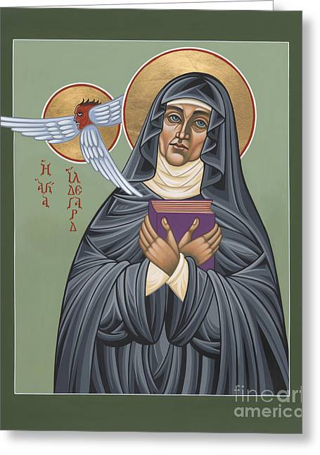 Harts Paintings Greeting Cards - Hildegard of Bingen Greeting Card by William Hart McNichols