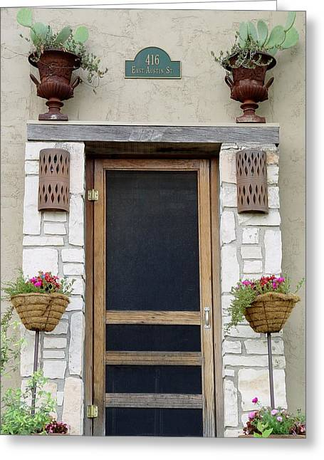 Screen Doors Greeting Cards - Hill Country Hacienda Greeting Card by Elizabeth Sullivan