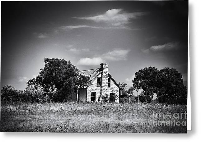 Old Home Place Greeting Cards - Hill Country Homestead Greeting Card by Arne Hansen
