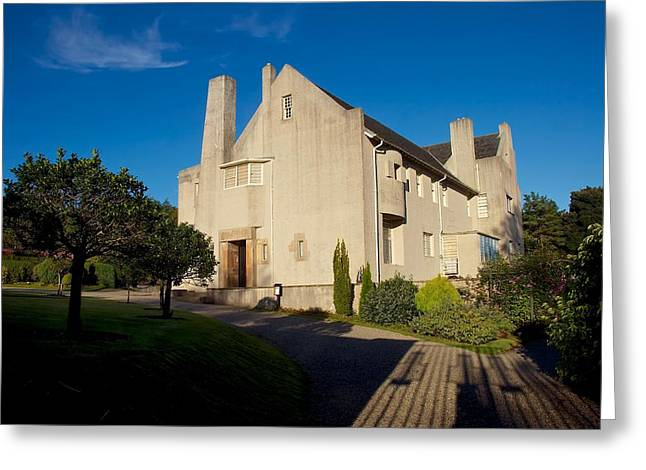 Rennie Greeting Cards - Hill House by Charles Rennie Mackintosh Greeting Card by Stephen Taylor